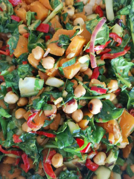 hearty pumpkin salad vegan