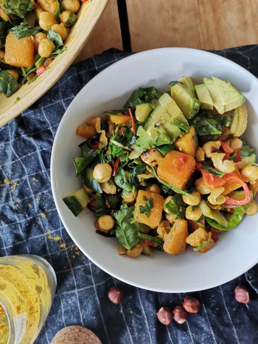 hearty pumpkin salad